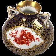 Tiny Royal Doulton Porcelain Vase - Signed