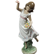 "LLadro #6580 - ""Garden Dance"" Glazed with box."