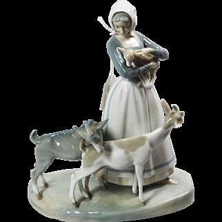 "LLadro #1001 - ""Shepherdess With Goats"""