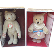 Steiff 407512 Teddy Baby Girl and Steiff 407550 Dicky Bear 1930 replica