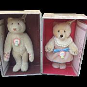 Steiff 407512 Teddy Baby Girl and Steiff 407550 Dicky Bear 1930 replica