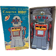 1960's Japan Cragstan CO's Rare Gray Mr. Robot in Scarce Original Box