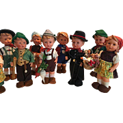 Eleven lovely Goebel Hummel dolls