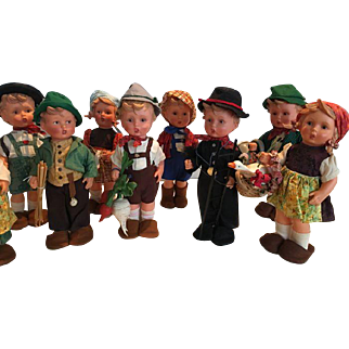 Eleven lovely Goebel Hummel dolls