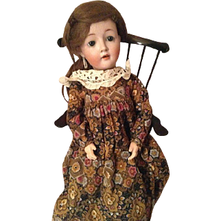 25,5 Rare Antique Harmus doll with a lovely expression on her face.