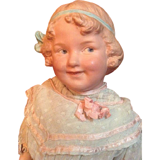 21 '' Heubach character Coquette lady doll with a gorgeous leather body.