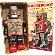 Horikawa Machine Robot with original box, in good working condition. 1950/1960.