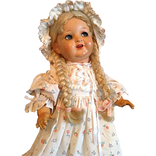 Antique Franz Schmidt doll with flirty eyes