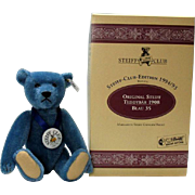 Steiff 420047 Steiff Club 1994 blue teddy bear 1908 replica Limited Edition
