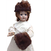 Steiner walking doll with a closed open mouth 22 inch!