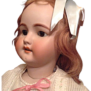 35,5'' Very large Simon & Halbig doll with a bisque shoulder plate but she can turn her head!