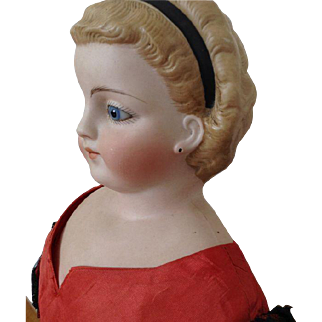 One of the first dolls from Simon & Halbig Biedermeier S10H with a closed mouth- ca. 1870/1880