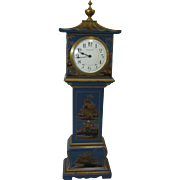Blue Chinoiserie Miniature Longcase Clock - Mappin & Webb, early 20th Century