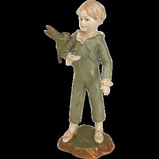 Royal Worcester Boy with Parakeet