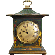 Green Chinoiserie Pagoda Mantle Clock