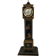 Black Chinoiserie Miniature Longcase Clock