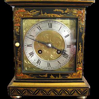 Black Chinoiserie Clock