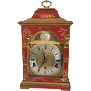 Red Chinoiserie Bracket Clock