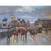 Milan Miletic, Serbian Artist, Pont Neuf, Paris