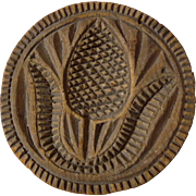 Pomegranate Butter print stamp mold 19th Century
