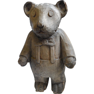 Wooden Paper Mache' Mold, Bear