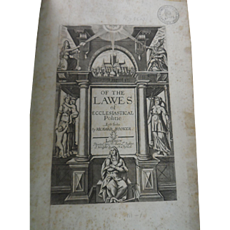 Book, The Works of that Learned and Judicious Mr. Richard Hooker, 1705