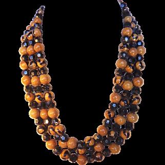 Vintage 1960 Christian Dior Triple Strand Necklace