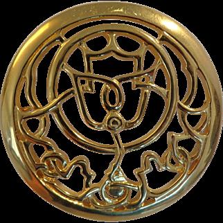 Vintage 1970-80s Mary McFadden Astrolabe Brooch