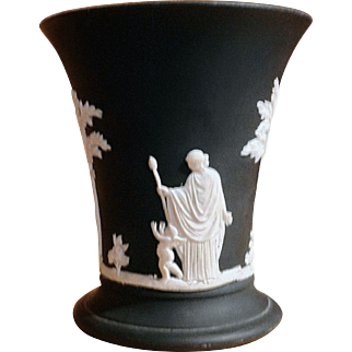 Wedgwood Black Basalt Small China Vase