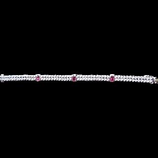 14K white gold, Ladies, hand assembled bracelet