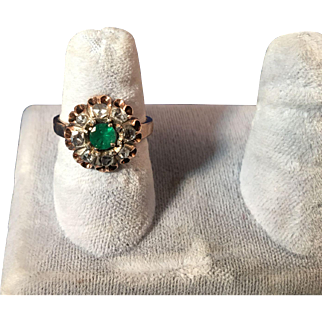 Silver and 18kt Rose Gold plated, Ladies, hand made Early Victorian ring