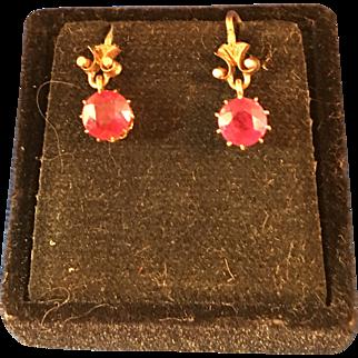 10KT Rose Gold earrings