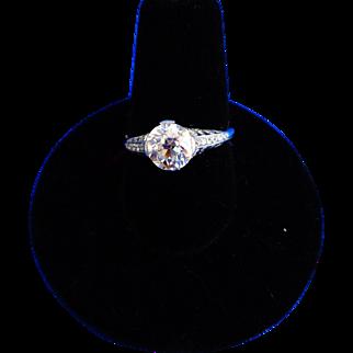 Platinum diamond Ladies Engagement ring.