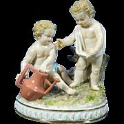 1850-1899 Meissen Multi-Color Porcelain Figurine Statue Set Germany