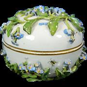 1850-1899 Meissen Multi-Color Porcelain Trinket Box Germany