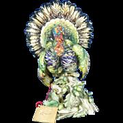 1900-1940 Rare Multi-Color Cacciapuoti Porcelain Figurine Statue Set Turkey Italy