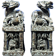 Antique Pair of Chinese Hand Carved Soap Stone Seals – China 19th Century