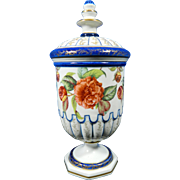 Vintage Hand Painted Sevres Style Porcelain Urn – France 20th Century