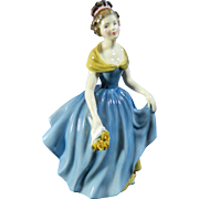 Vintage Hand Painted Royal Doulton Porcelain Figurine Melanie – Great Britain 20th Century