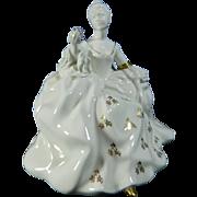 Vintage Hand Painted Royal Doulton Porcelain Figurine Antoinette – Great Britain 20th Century