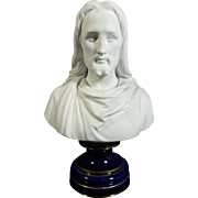 Antique Parian or Biscuit Porcelain Bust of Our Sacred Heart – France 19th Century