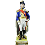 Vintage Hand Painted Porcelain Figurine of an Officer – France 20th Century