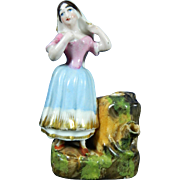 Vintage Hand Painted Staffordshire Porcelain Figurine – England 20th Century
