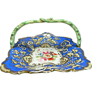 Antique Hand Painted Meissen Style Porcelain Candy Tray – Germany 19th Century
