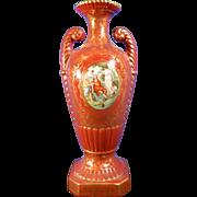 Vintage Hand Painted Porcelain Flower Vase – France 20th Century