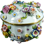 Antique Hand Painted Meissen Porcelain Trinket Box – Germany 19th Century