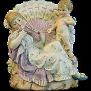 Vintage Hand Painted Porcelain Planter – France 20th Century