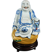 Vintage Chinese Buddha Hand Painted Porcelain Statue or Figurine – China 20th Century