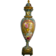 Antique Hand Painted Enameled Miniature Urn Art Nouveau – Austria 19th Century