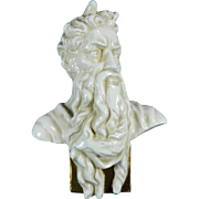 Vintage White Porcelain Bust of Moses by Michelangelo – Europe 20th Century